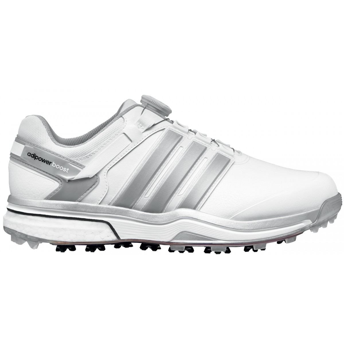 Adidas Adipower Boost Boa corriendo blanco / Dark Silver Metallic