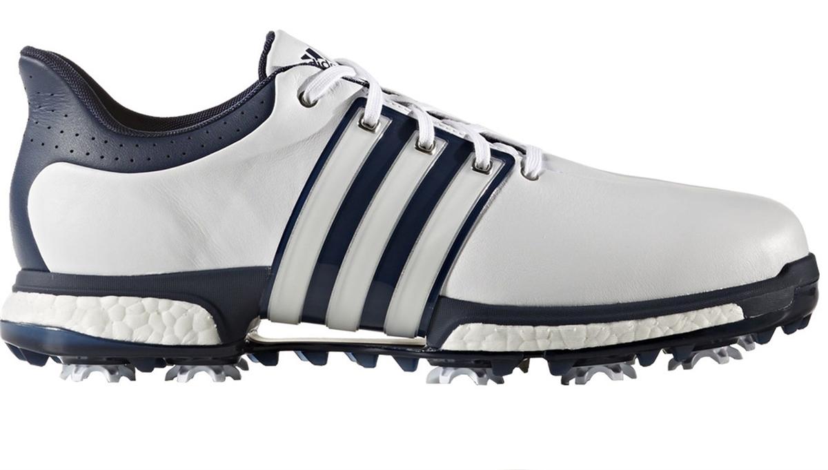 8917469910408a Adidas Tour 360 Boost FTWR White Dark Slate Silver Metallic