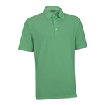 Ashworth EZ-TEC2 Performance Microstripe Polo Shamrock Green/White