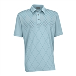 Ashworth EZ-TEC2 Performance Double Knit Front Panel Polo Seaglass