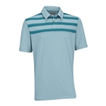 Ashworth EZ-TEC2 Performance Double Knit Chest Print Polo Seaglass/Enamel Blue