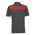 Ashworth EZ-TEC2 Performance Chest Print Polo Dark Grey