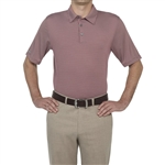 Ashworth EZ-TEC2 Performance Microstripe Polo Burgundy Red/Pebble