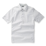 Ashworth Performance EZ-SOF 2-Color Stripe Polo White/Pebble