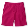 Ashworth Performance Solid Stretch Flat Front Shorts Cactus Flower