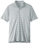 Adidas Men's Puremotion 2-Color Stripe Polo Light Onix/White