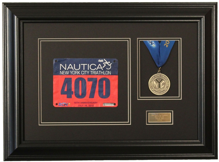marathon race photo and finishing medal display frame - Display Frame
