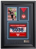 Houston Marathon Race Photo and Finishing Medal Display Frame