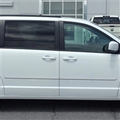 Chrysler Pacifica Painted Side Body Moldings with Chrome Inserts