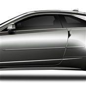 Cadillac CTS (2 Door) Painted Side Body Moldings with Chrome Inserts
