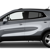 Buick Encore Painted Side Body Moldings with Chrome Inserts