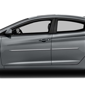 Hyundai Elantra Painted Side Body Moldings with Chrome Inserts
