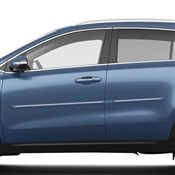 Kia Sportage Body Side Molding with Chrome Insert