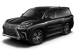 Lexus LX Painted Side Body Moldings with Chrome Inserts