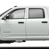 Dodge Ram Painted Side Body Moldings with Chrome Inserts