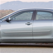 Toyota Solara Painted Side Body Moldings with Chrome Inserts