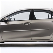 Toyota Yaris Painted Side Body Moldings with Chrome Inserts
