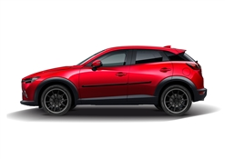 Mazda CX-3 Painted Side Molding Reduce Door Dings
