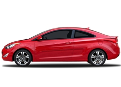 Hyundai Elantra Coupe Painted Side Molding Reduce Door Dings