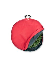"30 "" Santa's Bag Christmas Wreath Storage Bag with Suspend Handle"