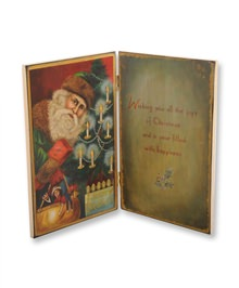 Christmas Wishes Santa Decorative Folding Book