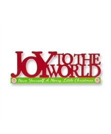 Joy To The World Cutout Christmas Centerpiece