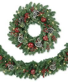 Alpine Grand Fir Artificial Christmas Wreath