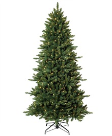Pine Crest Slim Spruce Artificial Christmas Tree