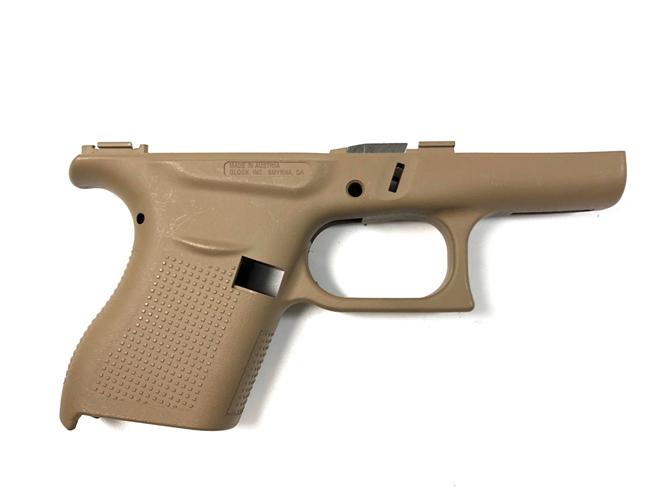 Glock 43 Stripped Pistol Frame