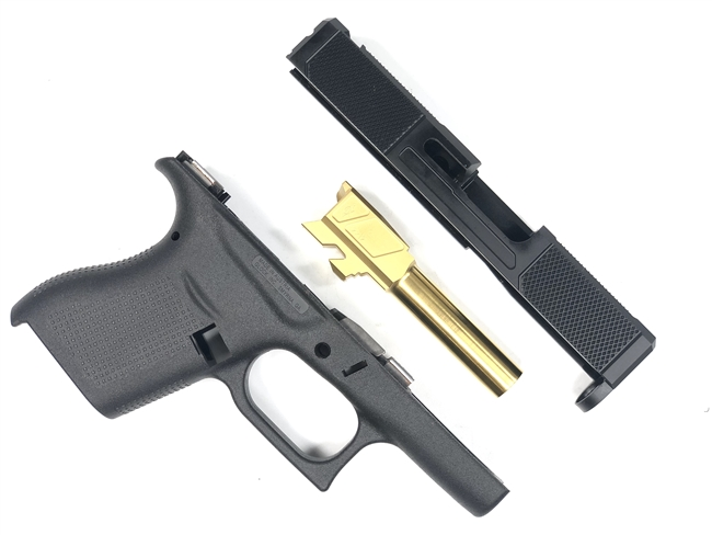 G43 V5 Slide, Barrel & Frame Combo - Black