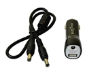 Car Cigarette Male Plug to 5.5 x 2.5mm Male or Female Barrel Connector Adapter with 5V USB Port