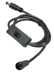 DC Power Cable with On/Off Switch and 5.5 x 2.5mm Male to Female Connectors
