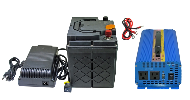 XP2500 AC Power Pack -1531 Watt-hour Battery with 1000W 110V Pure Sine AC  Inverter