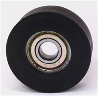 "8mm Bore Bearing with 1 1/4"" inch Black Tire 8x1 1/4""x 1/2"""