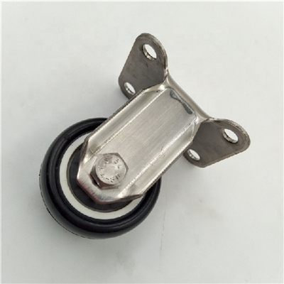 "1.5"" Inch Stainless Steel  Caster PU Wheel with Fixed Top Plate"