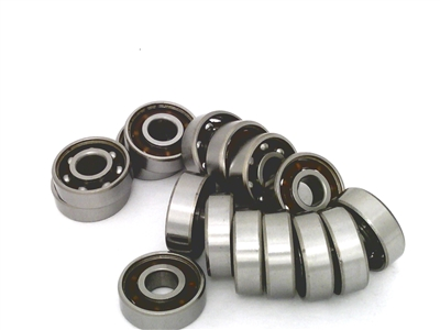 100 inline/Rollerblade/Skate Bearing Chrome Steel Open Ball bearing with Nylon Cage