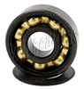 16 Roller Skate Black Bearings with Bronze Cage and Black Seals 8x22x7 mm
