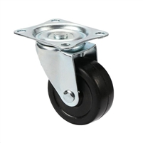"1"" Inch Plastic  Caster Rubber Wheel with Top Plate"