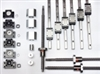 "1'X1' Foot CNC Router Kit 16mm Rail Guideway System and Ball Screws XYZ Travel 12"" x 12"" x 10"" inch"