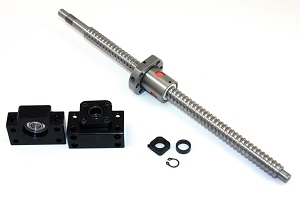"61"" inch Travel Stroke 20mm with 20mm pitch Anit-Backlash Ballscrew set with Nut and Bearing Supports"