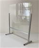 "Desk Mount Sneeze Guard 25""x 27""inch Clear Acrylic Protection Shield Counter w/ Aluminum Frame, Protective Safety Barrier Screen with Pass-Through Window"