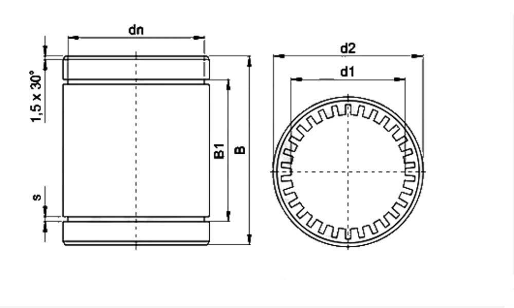 Lme20uu 20mm Ball Bushing 20x32x45 Linear Motion Bearings