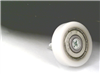 Flat Nylon ball Bearing with 22mm White Plastic Tire for sliding doors and windows