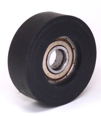 "8mm Bore Bearing with 1 1/4"" inch Black Tire 8x2""x 1/2"""