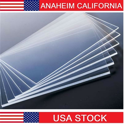 2x2 Feet 5mm Thick Clear Cast Acrylic Sheets 24 inch Cast Plexiglass Lucite Bulk