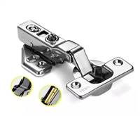 "1 3/8"" Inch Stainless Steel Smooth half overlay Hydraulic Hinge"