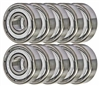 38KDD-10 Ball Bearings 8x22x7 Miniature Bearing Pack of 10