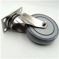 "4"" Inch Stainless Steel  Caster TPR Wheel with Top Plate"