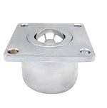 551 lbs Load Capacity Stainless Steel Flange Ball Transfer Bearing Unit