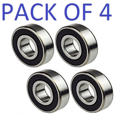 6002-2RS 15x32x9 Ball Bearing Dual Sided Rubber Sealed Deep Groove (4PCS)